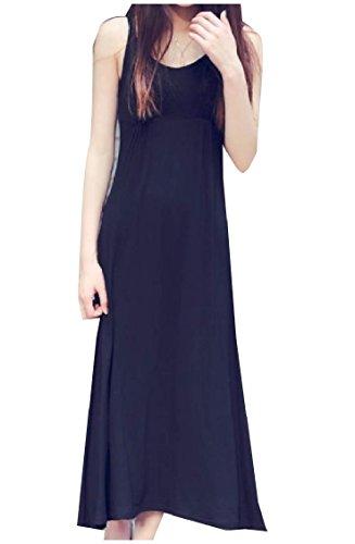 Oversized Women Pinstripe Sling Black Coolred Dress Swing Bohemian Beach Long SqC4nn7xwt