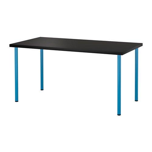 LINNMON / ADILS テーブル, ブラックブラウン, ブルー 692.464.29 B075V1T66D