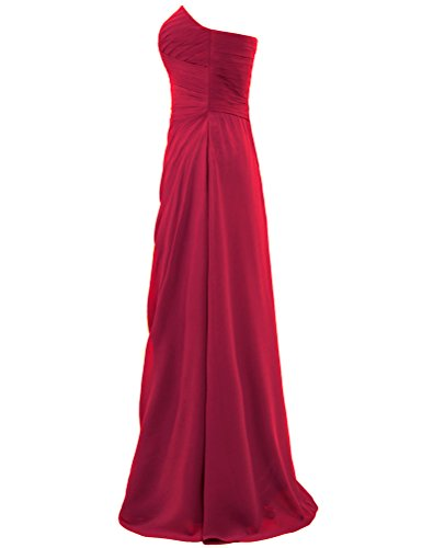 Off Shoulder for Long Bridesmaid Wedding ANTS Women's Burgundy Gown Dresses ASxw55
