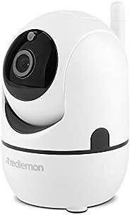 Redlemon Cámara de Seguridad WiFi 360° HD con Seguimiento y Detección de Movimiento, Monitoreo en Tiempo Real,