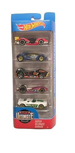 (Hot Wheels 2017 Super Ultimate Garage 5-Pack ~ Imparable, Iridium, Night Burner, Duel Fueler, Fast Fish )