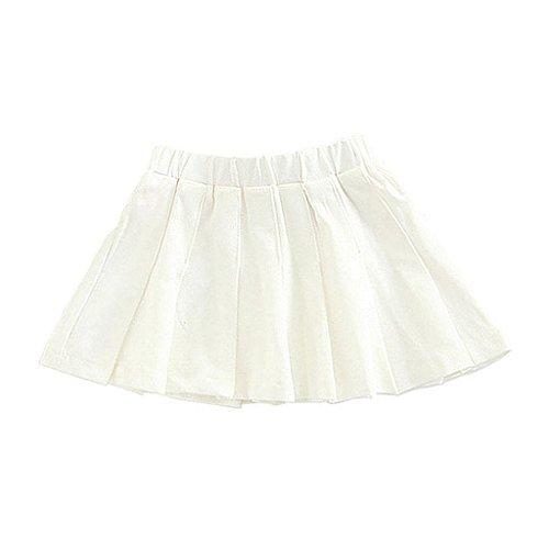 Baby Girls Tennis Skirt Toddler Kids Outfits White Skirt 3T/4T ()