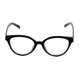Womens Cat Eye Black 52 mm Prescription Glasses