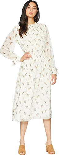 Juicy Couture Women's Watercolor Floral Smocked Midi Dress Angel Watercolor Floral Small -