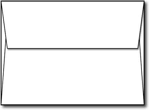 White A7 Envelopes (5 1/4'' x 7 1/4'') with Square Flap - 70lb Text Thickness - 1000 Envelopes BULK by Desktop Publishing Supplies, Inc.