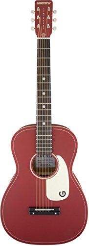 """Gretsch Limited Edition Jim Dandy 24"""" Flat Top Guitar, Rosewood Fingerboard, Chieftain Red Finish"""