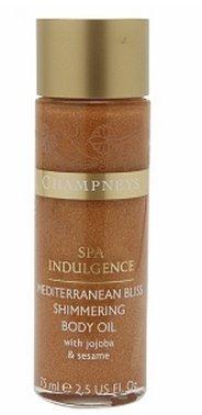 Champneys Mediterranean Bliss Shimmering Body Oil, Olive Leaf, Fig Milk, Green Tomato 2.5 fl oz