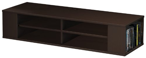 South Shore City Life Wall Mounted Media Console Shelf, Chocolate by South Shore
