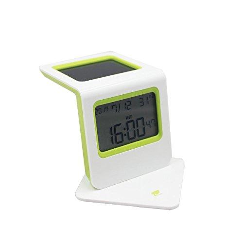 Glovion Travel Alarm Clock, Creative Design Folding Table Multifunctional Desk Table Alarm Clock Green