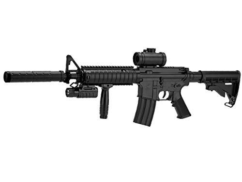Double Eagle Airsoft-M83 A2 Style M4 ABS/Couleur Noir/électrique (0.5 Joule)-Semi/Full Automatique-livré avec… 1