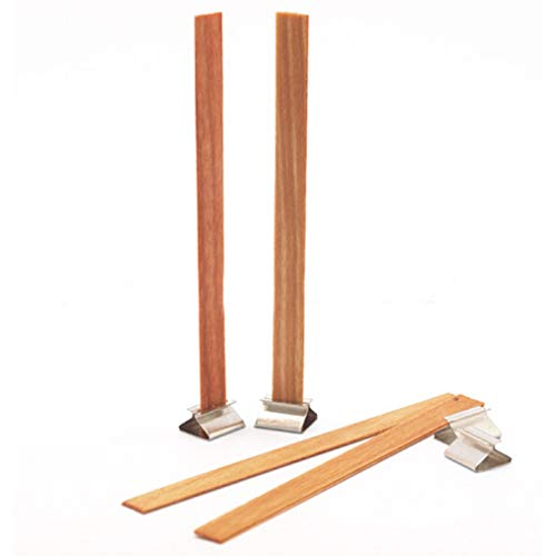 Fay Waters Candle Wood Wick Metal Base Scented Making Home Decor Sustainer Tab DIY 10 ()