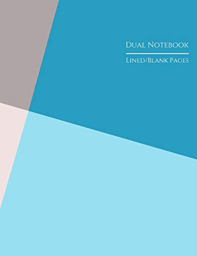 Dual Notebook Lined/Blank Pages: Alternating Lined and Blank Pages for Stories Homework Creative Projects Blue and Pink Quadrants Studio Papyrus