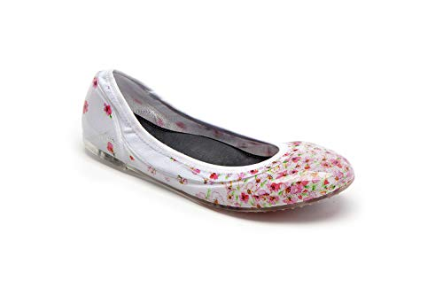 (JA VIE Womens Dress Flats Casual Shoes for Women for Every Day Wear Driving Walking, Cherry Blossom, Sz 36)