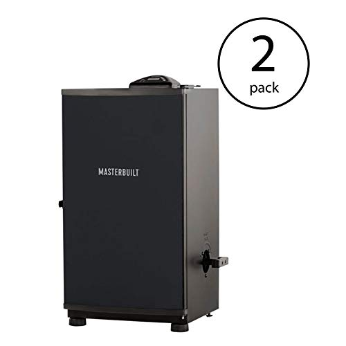 Masterbuilt Outdoor Barbecue 30 Inch Digital Electric BBQ Smoker, Black 2 Pack