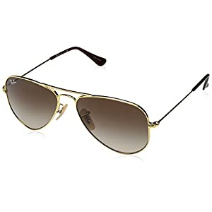Ray-Ban Kids' 0rj9506s223/1352junior Aviator Sunglasses, Gold, 52 mm