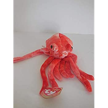 Amazon.com  Ty Beanie Babies - Wiggly the Squid  Toys   Games 454263235362