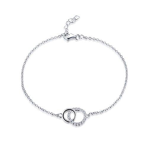 Double Chain Link Circle (JO WISDOM Double Circle Bracelet For Women 925 Sterling Silver Chain Link Bracelets)