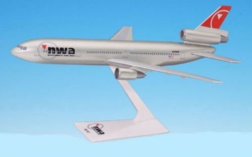 Northwest (03-09) DC-10 Airplane Plastic Snap Fit 1:250 Scale Part# ADC-01000I-024