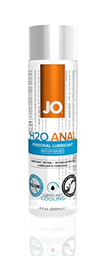 JO H2O Water Based Anal Cooling Personal Lubricant, 4 Ounce Anal Lube for Men, Women and Couples (Free of Glycerin)