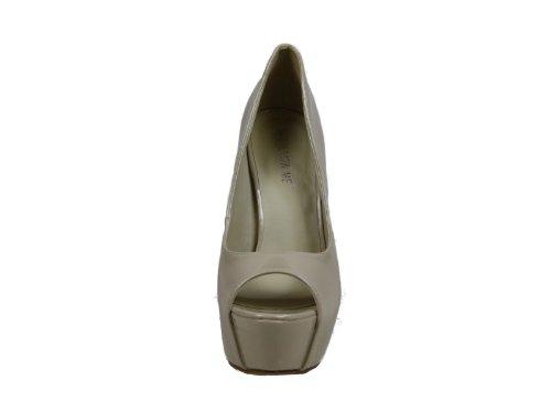 Aiguille forme Nue Brevets Peep Plate Concepteur Femmes Chaussures Talon Toe Cachée De 6Rq05Zw