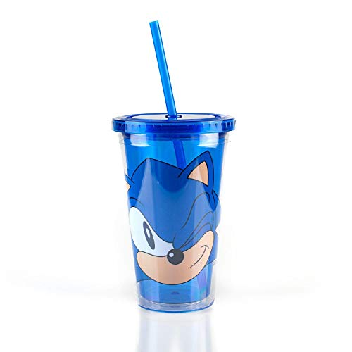 Sonic Collectibles | Sonic The Hedgehog Wink Blue Plastic Carnival Cup | 16 Ounces