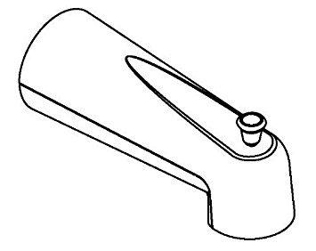(Moen 3853AZ Diverter Tub Spout, Antique Bronze)