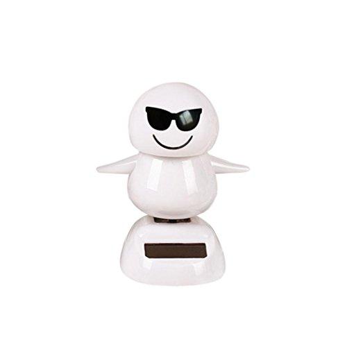 Ratchet Girl Halloween Costume (Christmas Snowman Solar Powered Shaking Head Dancing Animal Swinging Car Decor Emoji,Sulear White H)