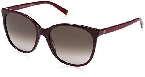 Tommy Hilfiger Women's Th1448s Square Sunglasses, Red/Brown Gradient, 56 - Tommy Prescription Hilfiger Sunglasses