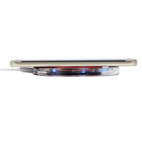 [2018 Upgraded] Fast iPhone Wireless Charger, EdgeShop Qi Wireless Charger Pad for Apple iPhone X iPhone 8/8 Plus Samsung Note 8 S8/S8 Plus/S7/S7 Edge/S6 Nexus Nokia Universal Wireless Charger Stand by EdgeShop (Image #1)