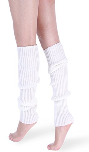*daisysboutique* Retro Unisex Adult Junior Ribbed Knitted Leg Warmers (One Size, -