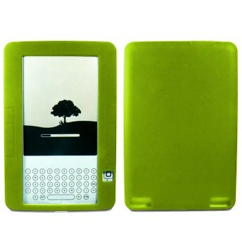 (PREMIUM NEON GREEN SOFT SILICONE SKIN GEL COVER CASE FOR AMAZON KINDLE 2 KINDLE2 6