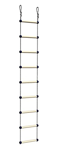 Wall Mounted Pull up Bar Chinning Set + Gymnastic Rings + Gym Climbing Rope + Ladder
