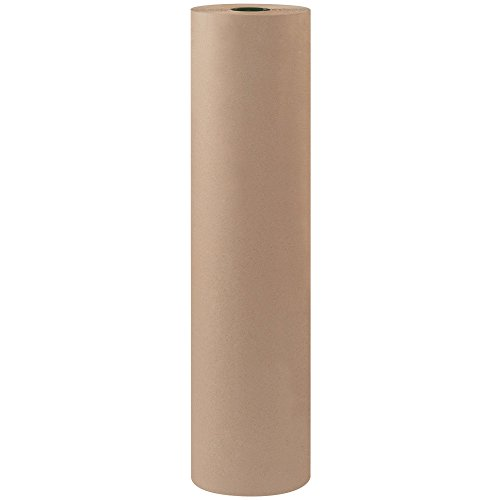 Top Pack Supply Bogus Kraft Paper Roll, 60#, 36″ x 600′, Gray (Pack of 1 Roll)