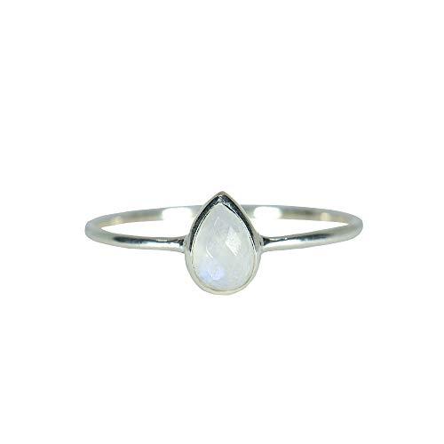 - Pura Vida Silver Teardrop Moonstone Ring Size 5 - .925 Sterling Silver Ring