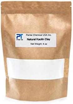 100% Natural,Pure, White Kaolin KR Cosmetic Grade/Personal Care Kaolin Clay Fine Powder Made in USA 16oz 8oz 4oz (4oz)