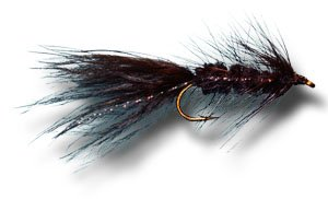 Woolly Bugger - Black Fly Fishing Fly - Size 4 - 6 Pack