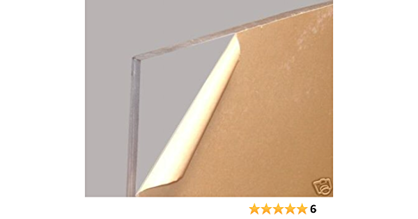 """3//16/"""" x 24 x 24 Clear Plexiglass Acrylic Sheet for Sneeze Guards, 1//4/"""" // 0.220"""
