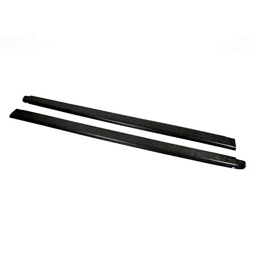 Wade 72-40181 Truck Bed Rail Caps Black Smooth Finish without Stake Holes for 2004-2012 Chevrolet Colorado & GMC Canyon Standard Cab Extended Cab (Set of 2) ()