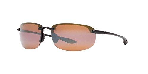 Maui Jim Unisex Ho'okipa Gloss Black/HCL Bronze Lens (Jim Maui Sunglasses)