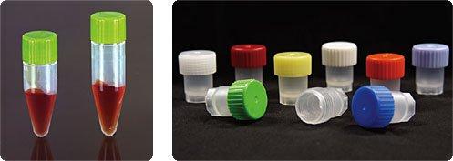 CryoSure vials, 2.5 mL Large ID, w/Caps Natural - Freestanding (1000 per case)