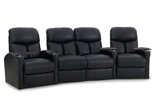 Octane Seating BOLT-R4CLM-BND-BL Octane Bolt XS400 Leather Home Theater Recliner Set (Row of 4) For Sale