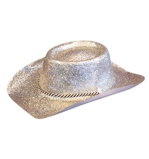 Glitter Cowboy Hat Silver  Amazon.co.uk  Toys   Games a9f6376232e