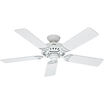 Hunter Fan 53039 Summer Breeze 52-Inch Ceiling Fan with Five Blades, White