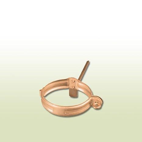 Kupfer Fallrohrschelle d=87 mm Rohr Schelle mit Einschlagstift für CU Rohr
