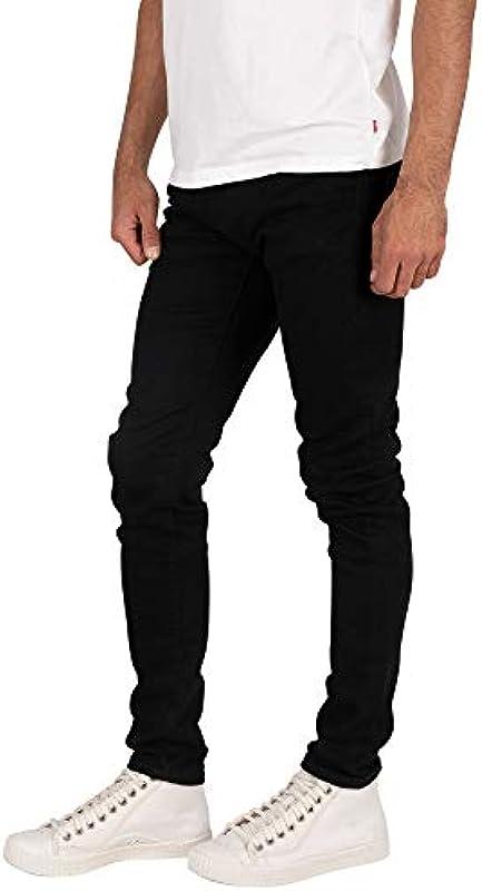 Levi's męskie jeansy rurkowe, czarne, kolor: czarny , rozmiar: 36W / 34L: Odzież