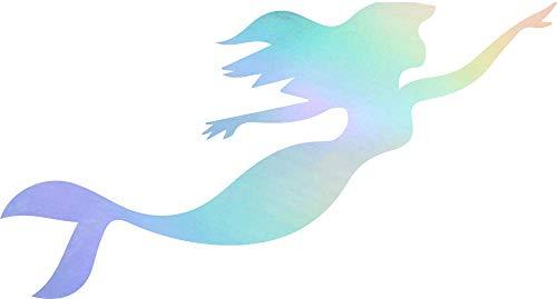 (NBFU DECALS Little Mermaid Swimming Disney (Hologram) (Set of 2) Premium Waterproof Vinyl Decal Stickers for Laptop Phone Accessory Helmet CAR Window Bumper Mug Tuber Cup Door Wall Decoration)