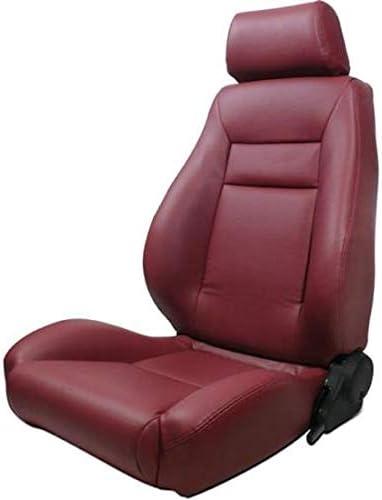 ProCar by Scat 80-1100-56L Maroon Vinyl Racing Elite Recliner Left Seat