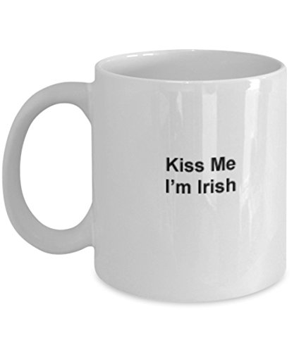 Irish Coffee Mug - Kiss Me Irish Coffee Tea women travel best fighting sheep blessing proverbs prayer personalize endurance birthday anniversary Hannukah Christmas gift St. Patrick Saint Paddy 11oz]()