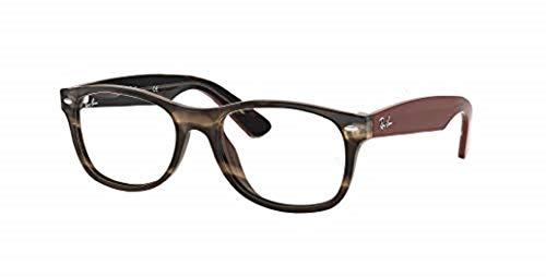 Ray-Ban RX5184 - 5798 Eyeglasses, Tortoise; Brown Frame 50mm w/ Clear Demo ()