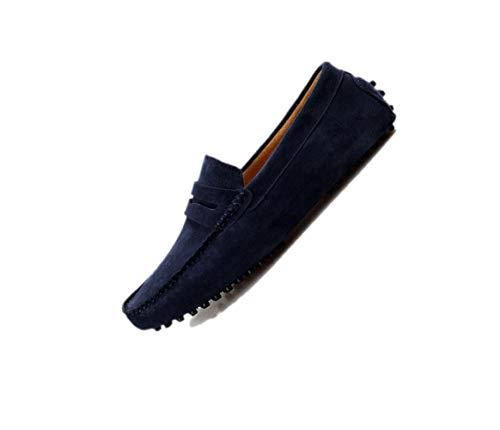 Scarpe Casual Uomo Scarpe Chic Lazy Scarpe Rete Traspirante Oxford Scarpe A Punta Testa Tonda Fondo Morbido Blue